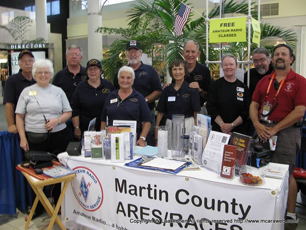 Martin County ARES Group at Hurricane Fair 2011